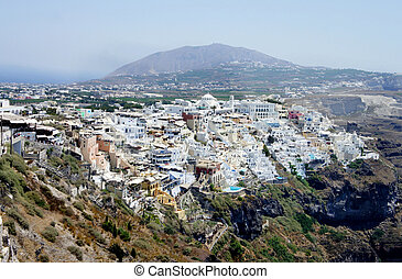 Capital city of Santorini - Thira