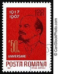 Franqueo, estampilla, rumania, 1962, Vladimir, Illyich,...