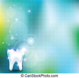 healthy tooth background - Beautiful blue background with...