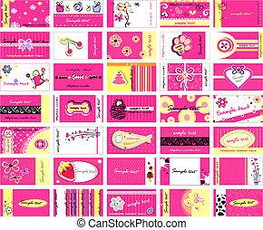 business cards - Set of 35 business cards for ladies