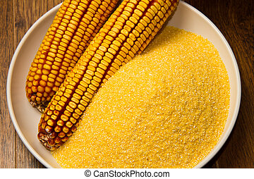 cornmeal - Still life with maize products