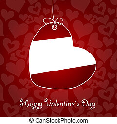 Valentine`s Day card, vector illustration