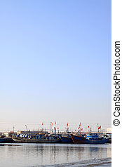 vessels moored at the pier in north china