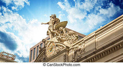 Grand Central Station Exterior view in New York City, USA