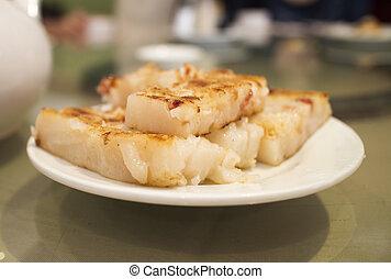 chinese dim sum - radish pancake