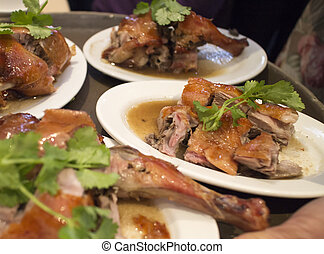 chinese dim sum - barbecued duck