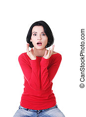 Stressed woman is going crazy in frustration. - Stressed and...