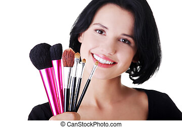 Young make-up artist woman