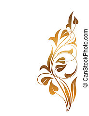 Ornamental white background