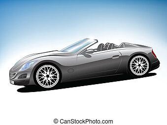 Grey sport car