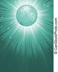 Beidge disco rays with stars. EPS 8 vector file included