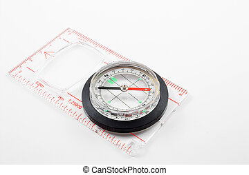 Compass - A compass for locating direction on a map or when...