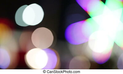 Abstract bokeh lights.