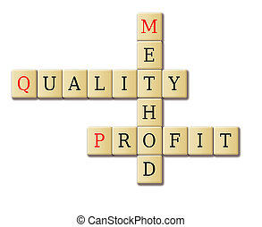 Quality, profit and method in a crossword puzzle