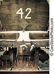 Mobile photography toned old obsolete railway car - Moble...