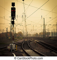 Mobile photography tone confusing rail tracks dusk - Moble...