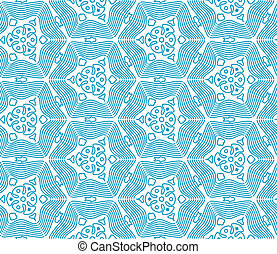Blue Seamless Monochrome Pattern