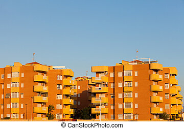 Modern architecture apartment units in Spain - Group of...