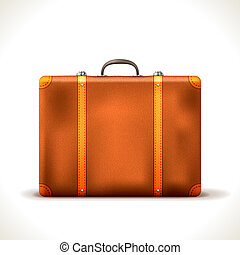 Vector suitcase - Vector vintage Travel Suitcase isolated on...