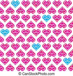 Heart pink seamless background, pat - Love background for...
