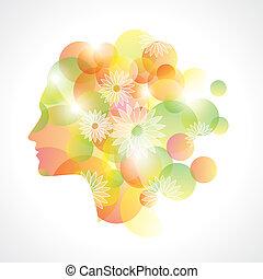 abstract girl graphics