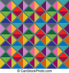 Geometric pattern - Seamless multicolored geometric pattern