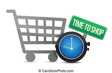 Time to Shop and shopping cart