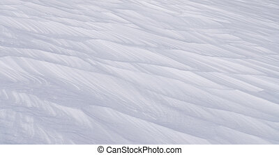 Snow Drift - Snow drift sculpted by strong winter blizzard