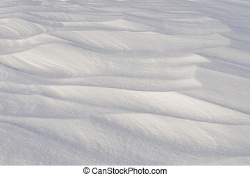 Snow Drift - Snow drift sculpted by strong winter blizzard.