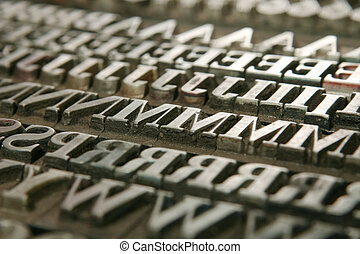 movable type - Typography workshop Old Metallic Letters for...