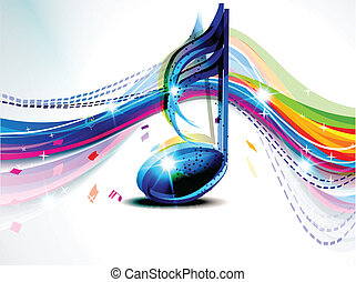 abstract musical wave background vector illustration
