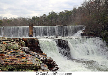 DeSoto Falls in the winter