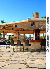 Bar at the beach of luxury hotel, Sharm el Sheikh, Egypt
