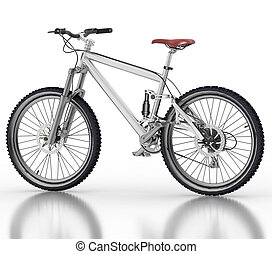 Bicycle isolated on white - Bicycle isolated on white...
