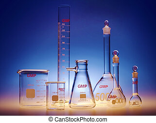 Test-tubes glassware used in chemistry and biology...