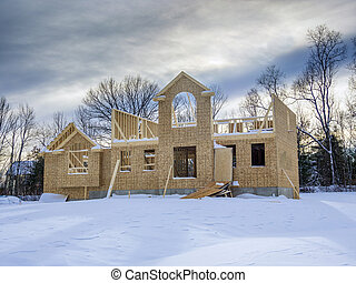 New house construction during the winter season