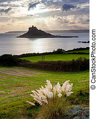 Marazion Cornwall - Sunset over St Michaels Mount and...