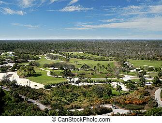 Florida Golf Course Flyover Aerial
