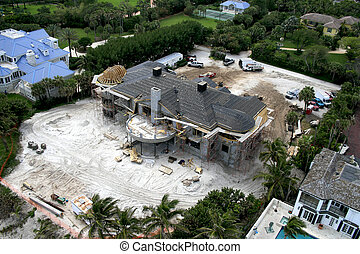 Ocean Paradise Under Construction - Aerial photograph taken...