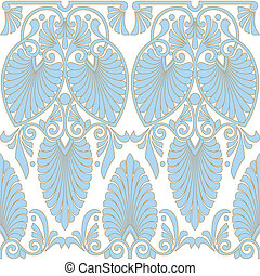 Seamless greek Art Nouveau pattern