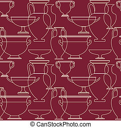Ceramic Ethnic national Greek style seamless pattern