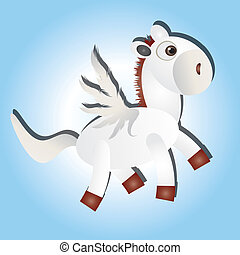 Fly horse - This image is a vector illustration and can be...