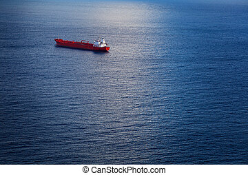 Chemical Tanker in the Atlantic Ocean - Big Chemical Tanker...