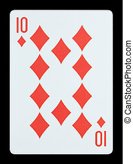 Playing cards - Ten of diamonds