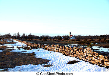 Rural landscape in winter