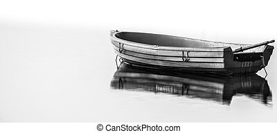 Boat Black and White - A boat in black and white