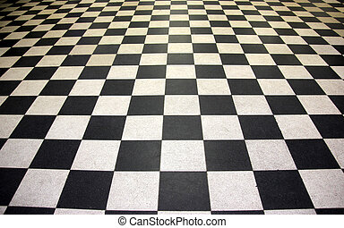 Black and white floor tiles - Spread of Black and white...