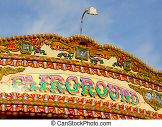 Fairground Merry Go Round - Bright and Colourful Fairground...