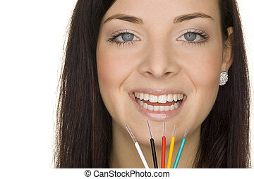 oral hygiene - perfect oral hygiene with interdental brushes