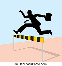 jumping man with bag